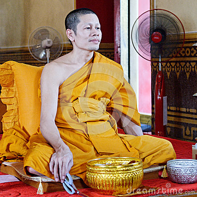Thai monk Editorial Photo