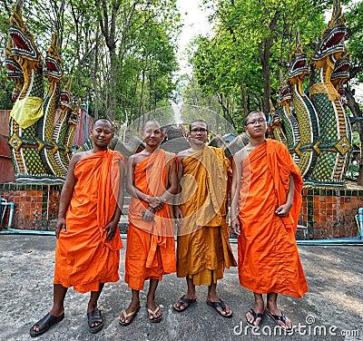 Free Thai Monks Stock Image - 42232581