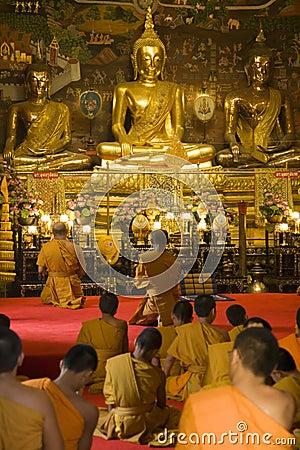 Free Thai Monks Worshipping Stock Photo - 1731530