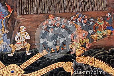 Thai mural.