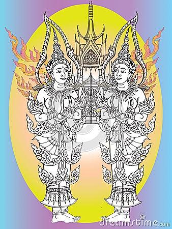 Thai mural temple