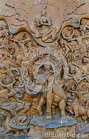 Thai mythology statue.
