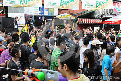 Thai New Year Celebrations in Bangkok Editorial Photo