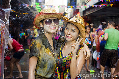 Thai new year festival Editorial Stock Photo