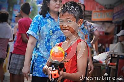 Thai New Year - Songkran Editorial Stock Photo