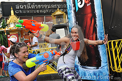 Thai New Year - Songkran Editorial Stock Photo