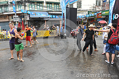 Thai New Year - Songkran Editorial Photography