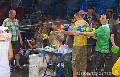 Thai new year - water festival Editorial Stock Photo