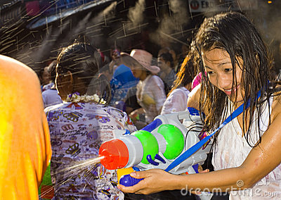 Thai new year - water festival Editorial Image