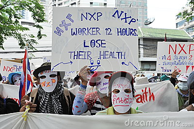 Workers Protest Editorial Stock Image