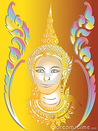 Thai paint mural temple