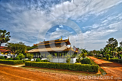 Thai palace temple in burma style HDR