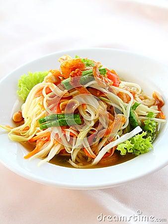 Free Thai Papaya Salad (Som Tum) Royalty Free Stock Image - 20973696