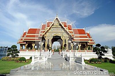 Thai pavilion in sunny day.