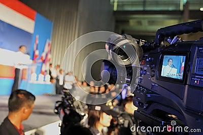 Thai Prime Minister Abhisit Vejjajiva Editorial Stock Photo