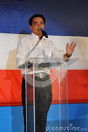 Thai Prime Minister Abhisit Vejjajiva Editorial Photo