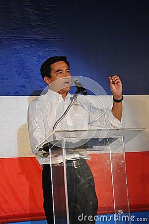 Thai Prime Minister Abhisit Vejjajiva Editorial Stock Image