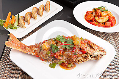 Thai Red Snapper with Tamarind