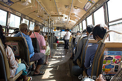 Thai regular bus Editorial Stock Photo