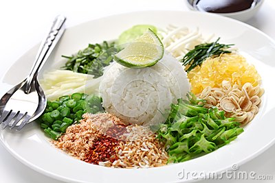 Thai rice salad