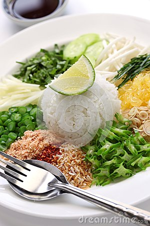 Thai rice salad