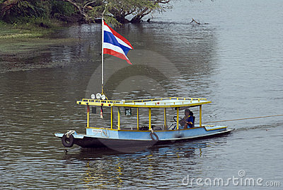 Thai River Boat Editorial Photo