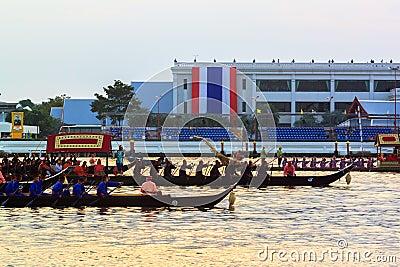 Thai Royal barge in Bangkok Editorial Stock Photo