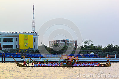 Thai Royal barge in Bangkok Editorial Image