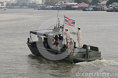 Thai Royal barge in Bangkok Editorial Stock Image