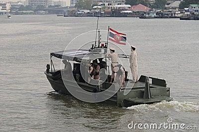 Thai Royal barge in Bangkok Editorial Stock Image
