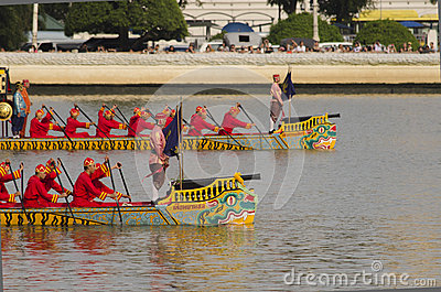 Thai Royal barge in Bangkok Editorial Stock Photo