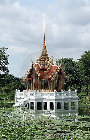Thai royal castle amid of water