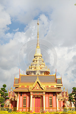 Thai royal funeral and Temple in bangkok