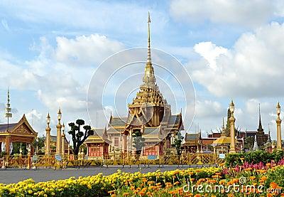 Thai royal funeral and Temple in bangkok Thailand