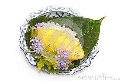 Thai's Dessert Mango Sticky Rice Stock Photo - Image: 25430420