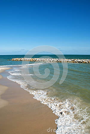 Thai Sea : White Sand Beach And Blue Sky Stock Image - Image: 25789251