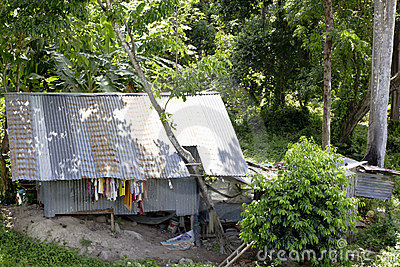 Thai Shanty Dwelling Editorial Stock Image