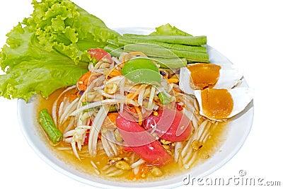 Thai spicy salad, mixed vegetable,papaya