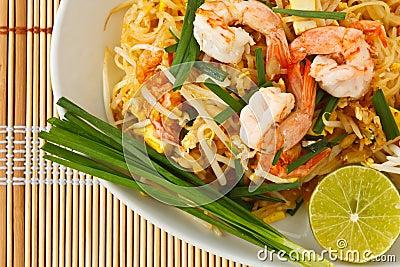 Thai stir-fried rice noodles (Pad Thai)