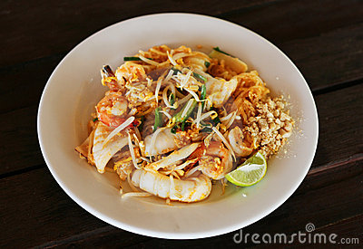 Thai style fried rice noodles