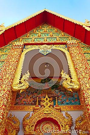 Thai style gable in the monastery