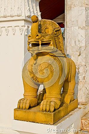 Thai style lion statue