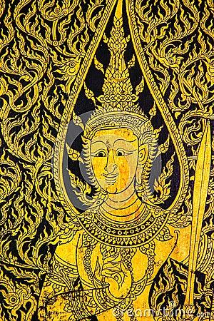 Thai style printing art