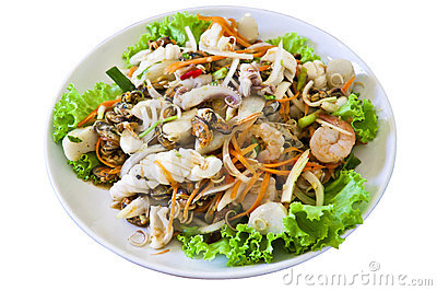 Thai style salad seafood Stock Photo