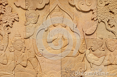Thai style sandstone carving art