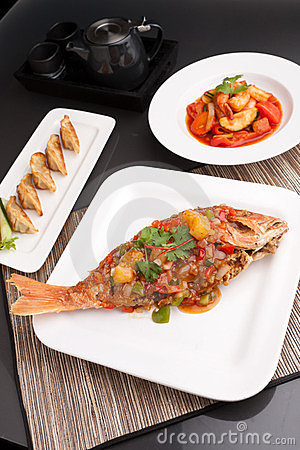 Thai Style Seafood Dishes