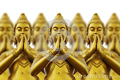 Thai Style Statues Stock Photo - Image: 26033070