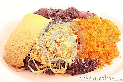 Thai style sweet desserts.