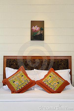 Thai style tropical hotel bedroom Editorial Photo