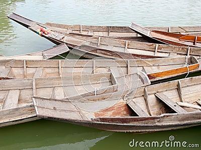 Thai style wood boat
